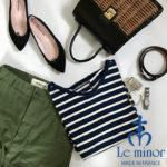スタイリストも絶賛するボーダーカットソー『Le minor(ルミノア)』2019ss新作