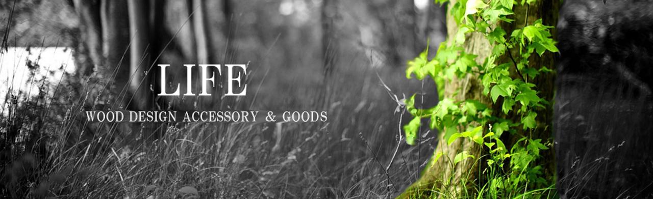 木製雑貨ブランドLIFE(ライフ)のブランドロゴ